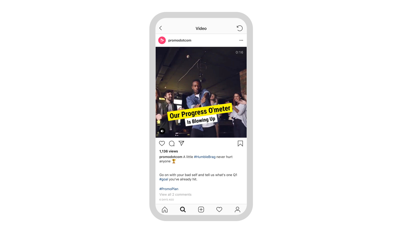 Promo.com Instagram Account on Mobile