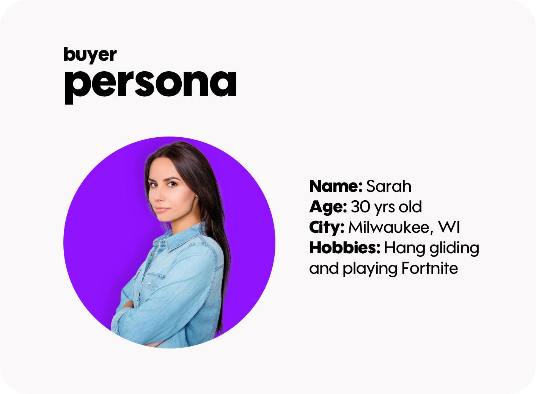 Example of Buyer Persona