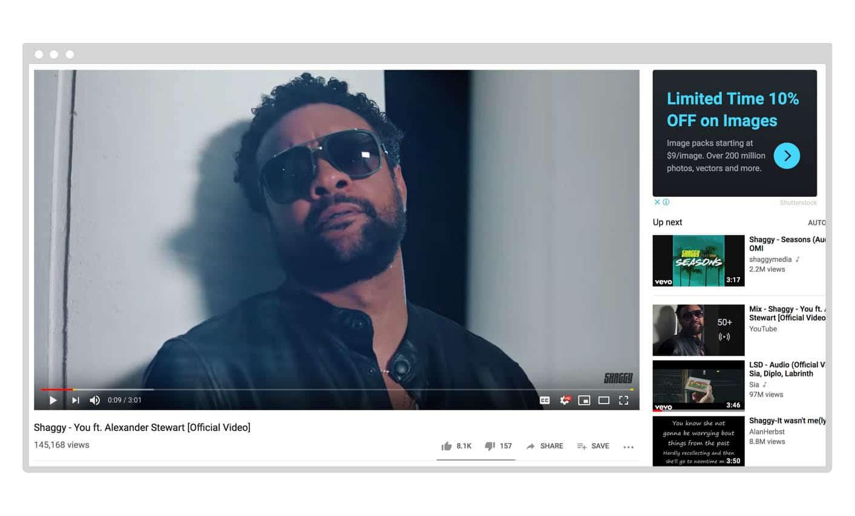 YouTube Display Ad
