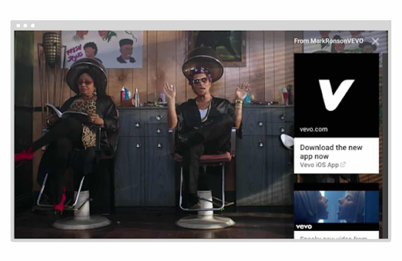YouTube Sponsored Card Ad
