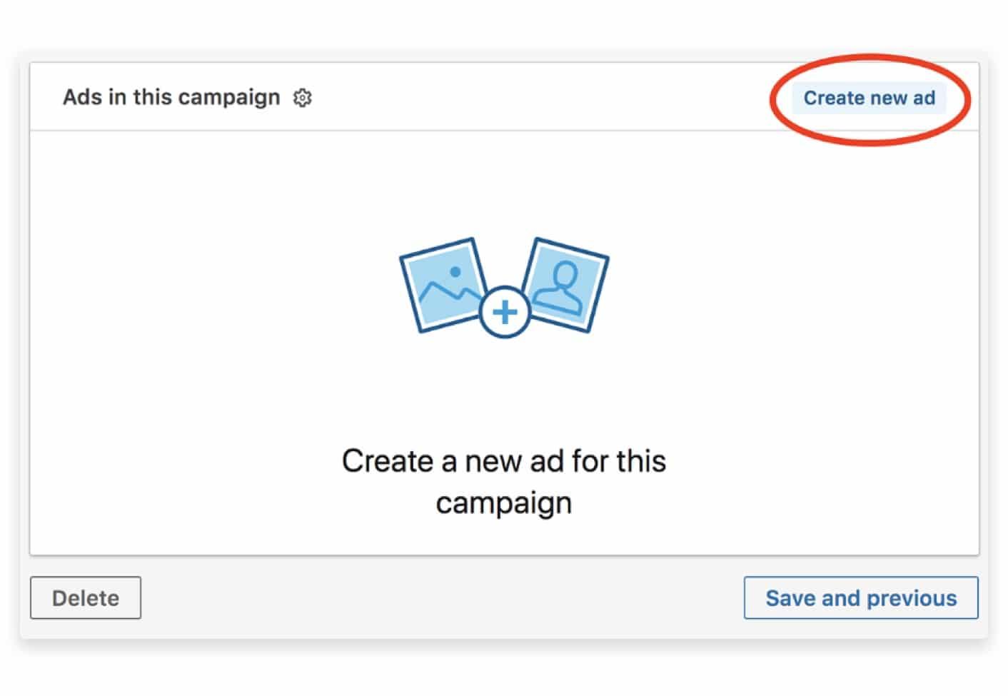 LinkedIn create new ad