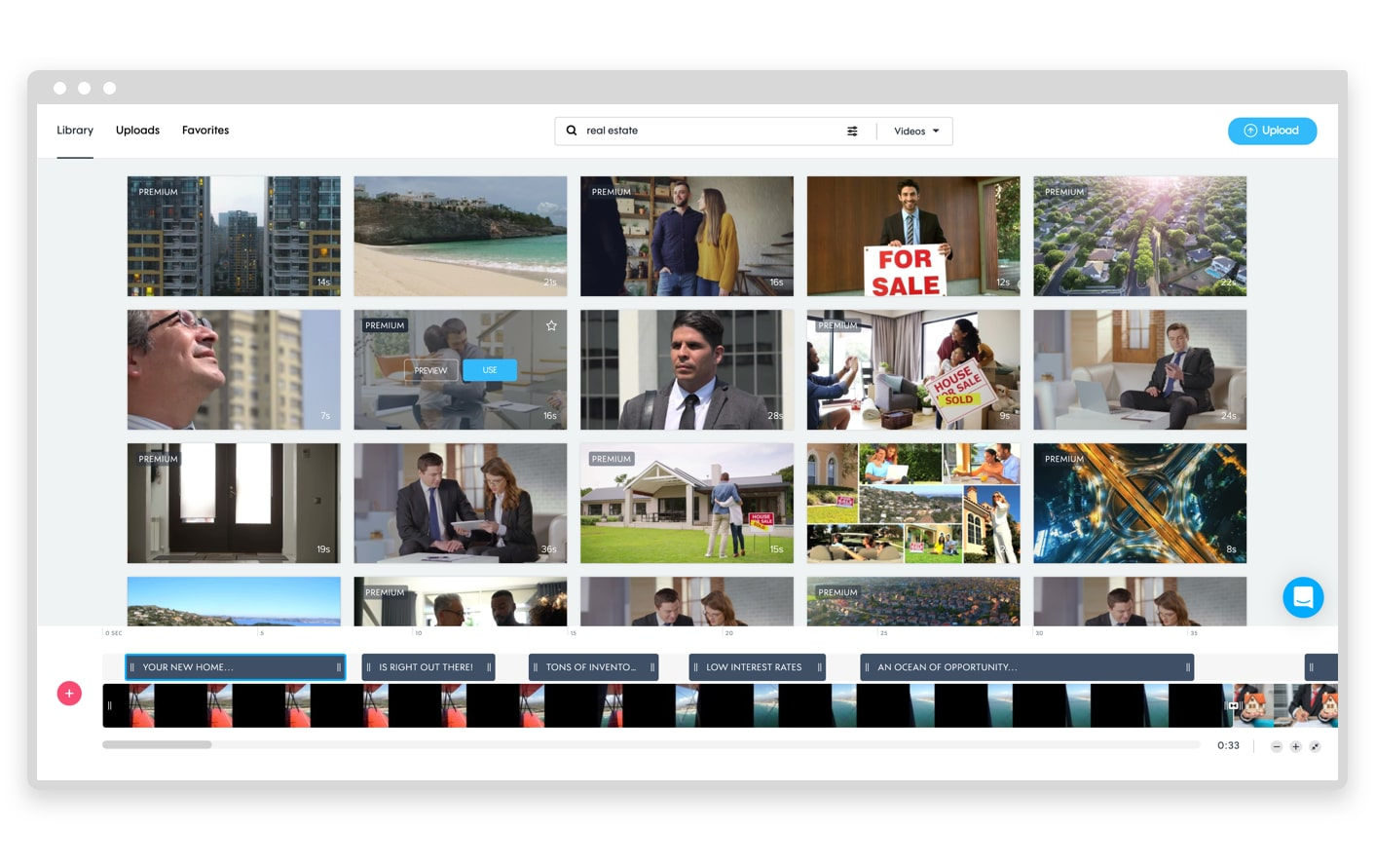 Promo.com video library