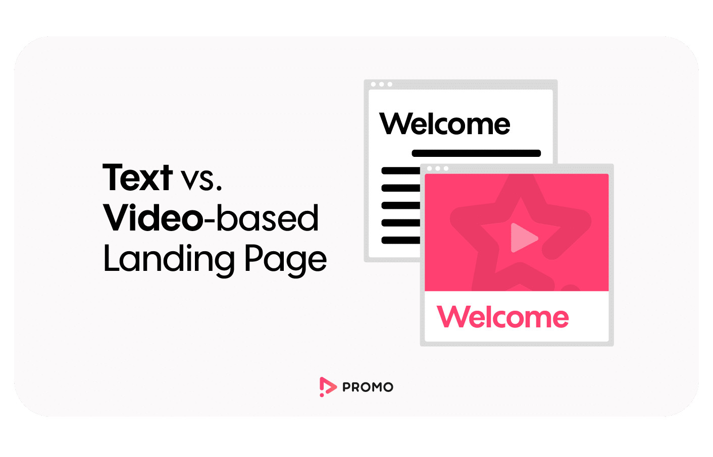 text vs. video-based landing page