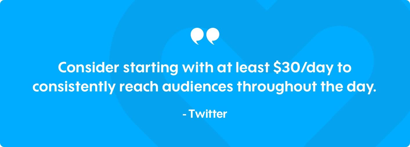 twitter ad campaign daily budget