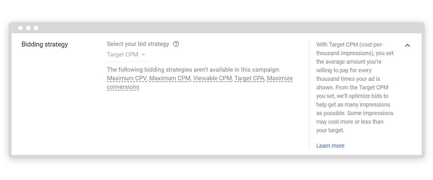 Google ads bidding strategy