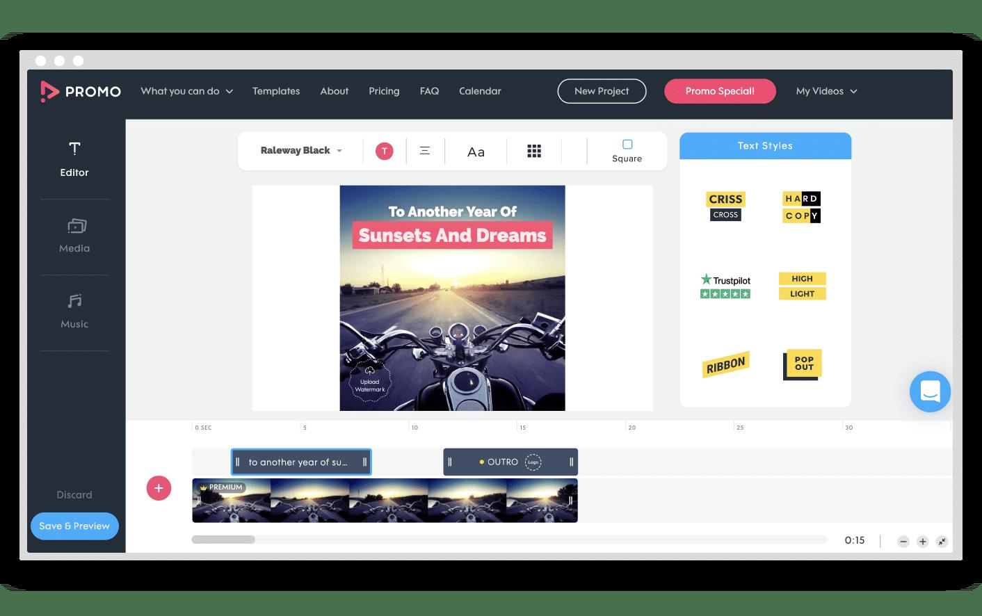 Promo.com Video Editor