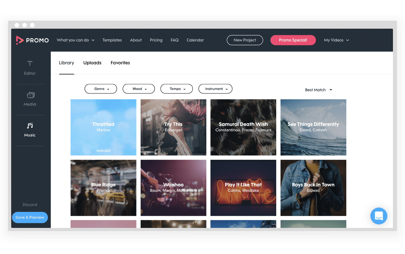 Promo.com Music Library