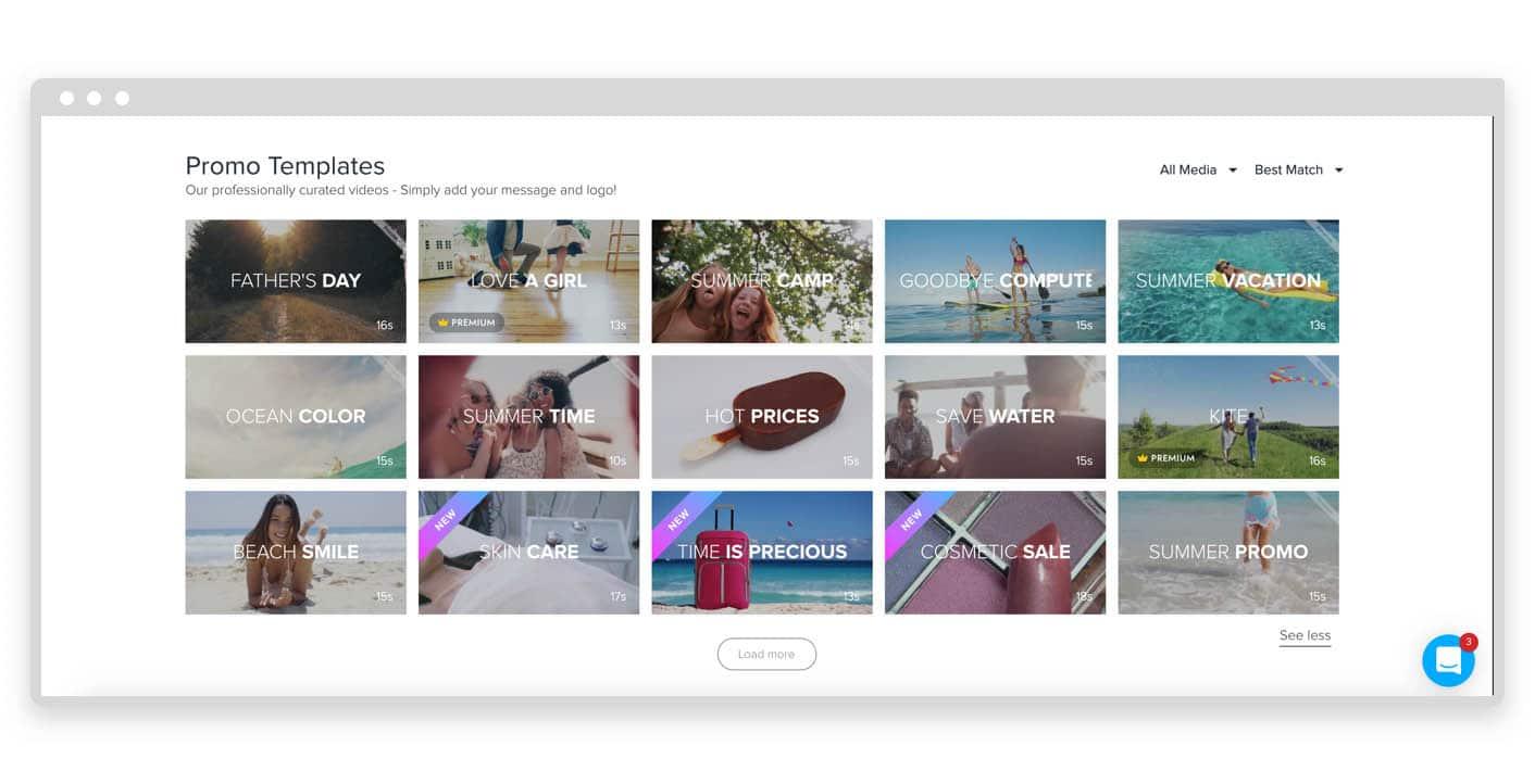 Promo.com video templates