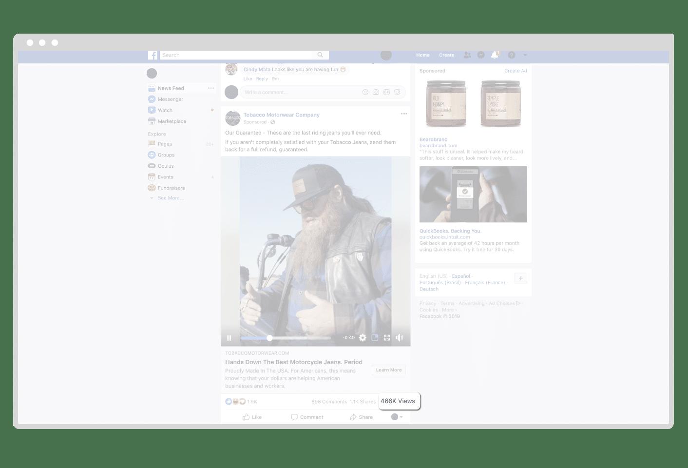 Facebook video public views