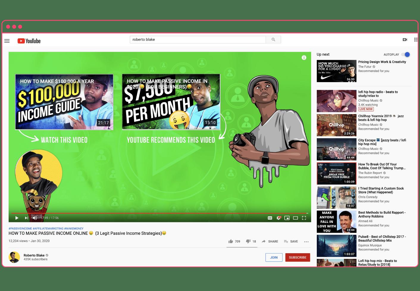 YouTube outro example