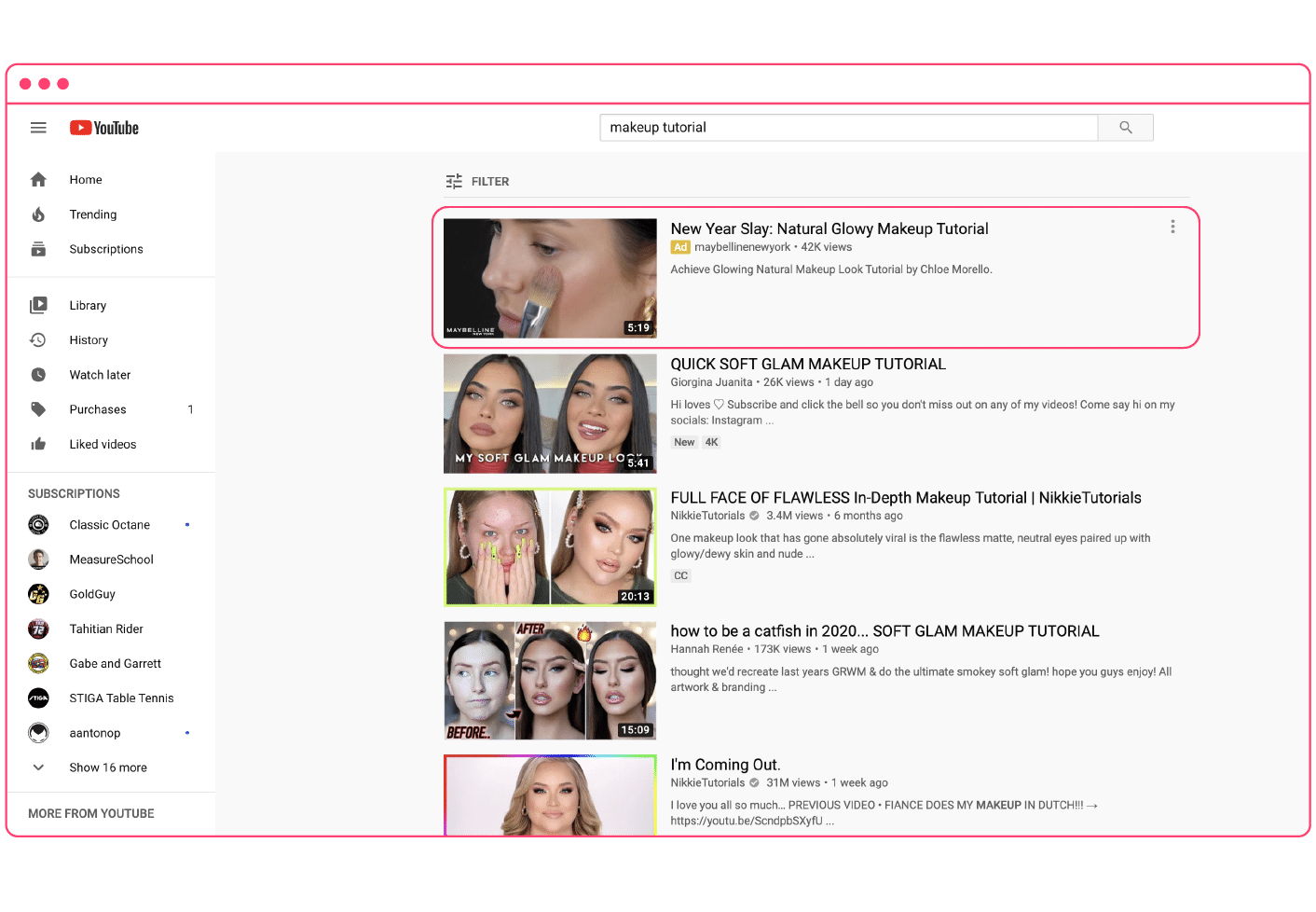 YouTube TrueView discovery ad
