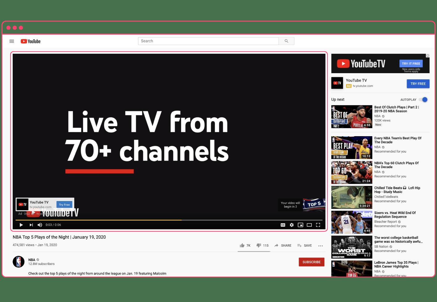 YouTube bumper ad